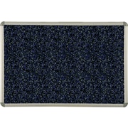 Best-Rite Blue Rubber-Tak Bulletin Board, Euro Trim Frame, 2' x 1.5'