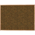Best-Rite® Blue Splash Cork Bulletin Boards with Oak Finish Frame
