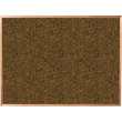 Best-Rite Blue Splash Cork Bulletin Board, Oak Finish Frame, 4' x 4'