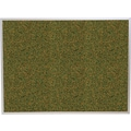 Best-Rite Green Splash Cork Bulletin Board, Aluminum Trim Frame, 5' x 4'