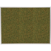 Best-Rite Green Splash Cork Bulletin Board, Aluminum Trim Frame, 3' x 2'