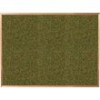 Best-Rite Green Splash Cork Bulletin Board, Oak Finish Frame, 4' x 3'