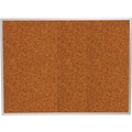 Best-Rite Red Splash Cork Bulletin Board, Aluminum Trim Frame, 4' x 3'