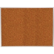 Best-Rite Red Splash Cork Bulletin Board, Aluminum Trim Frame, 5 x 4'
