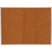 Best-Rite Red Splash Cork Bulletin Board, Aluminum Trim Frame, 4' x 4'