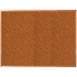 Best-Rite® 5' x 4' Red Splash Cork Bulletin Board with Oak Finish Frame