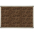 Best-Rite® Tan Rubber-Tak Bulletin Board with Euro Trim Frame, 2' x 1-1/2'