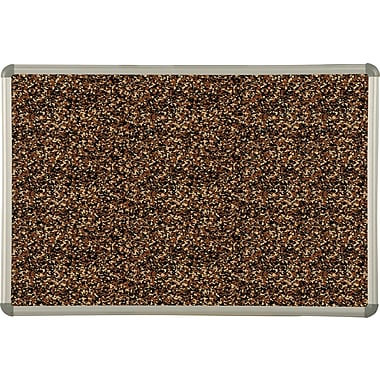 Best-Rite® Tan Rubber-Tak Bulletin Board with Euro Trim Frame, 4' x 3'
