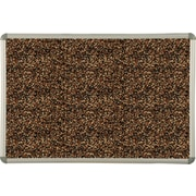 Best-Rite Tan Rubber-Tak Bulletin Boards, Euro Trim Frame, 4' x 4'