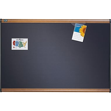 Quartet® Prestige® Gray Diamond Mesh Fabric Bulletin Boards with Mahogany Finish Frames