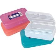 Staples® Translucent Pencil Boxes, Assorted Colors