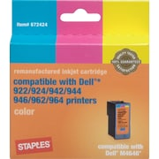 Staples ® Remanufactured High Capacity Color Ink Cartridge Compatible with Dell ® M4646