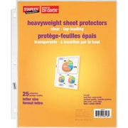 Staples® Clear Heavyweight Sheet Protectors