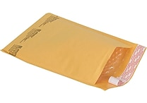 Staples® QuickStrip™ Bubble Wrap® Cushioned Mailers, #1, 7-1/8' x 11', 25/Pack