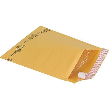 Staples® QuickStrip Bubble Cushioned Mailers, #2, 8-1/2in. x 11in., 25/Pack