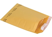 Staples® QuickStrip™ Bubble Wrap® Cushioned Mailers, #4, 9-1/2' x 13-1/2', 12/Pack