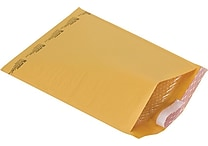 Staples® QuickStrip™ Bubble Wrap® Cushioned Mailers, #6, 12-1/2' x 18', 25/Pack