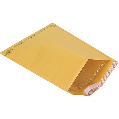 Staples® Self-Seal #7 Bubble Mailers, Kraft, 14-1/8