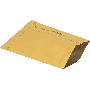 Staples No Seal #2 Padded Mailer, Gold Kraft, 8-3/8