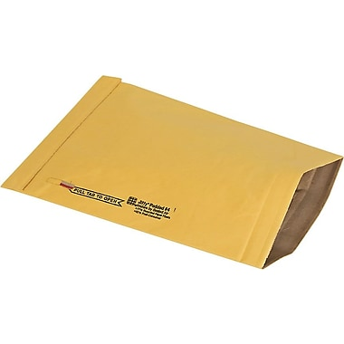 Staples® No Seal #4 Padded Mailer, Gold Kraft, 9-3/8in.x13-1/4in. (27232)
