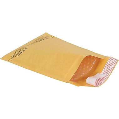 Staples® Self-Seal #2 Bubble Mailers, Kraft, 8-3/8