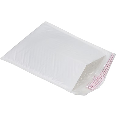 Staples® QuickStrip Poly Bubble Mailers, #00, 5in. x 9in.