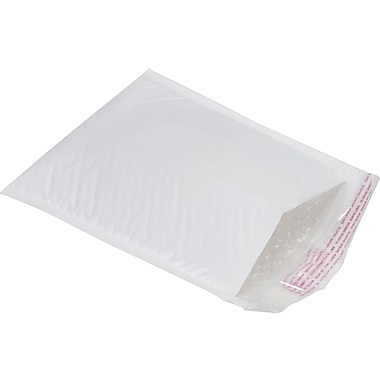 Staples® White Poly Bubble Envelope, 8-1/2