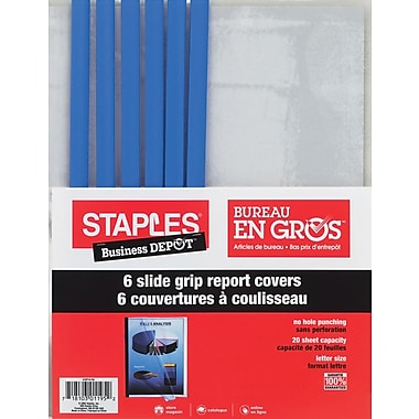 Staples® Slide-Grip Report Covers