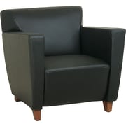 Office Star™ Black Leather Club Chair