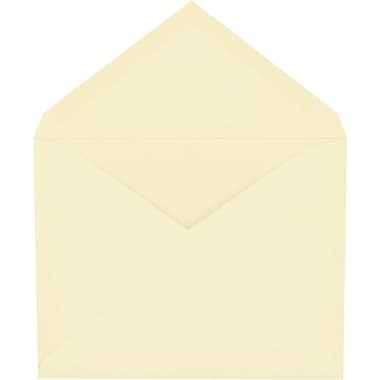Staples® Invitation Envelopes with Gummed Closure, Ivory, 100/Box