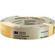 3M™ 2020 General-Purpose Masking Tape, 24 mm x 55 m
