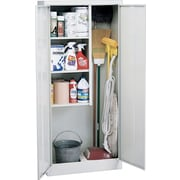 "Sandusky Janitorial Supply Cabinet, 66""H x 30""W x 15""D, Dove Gray"