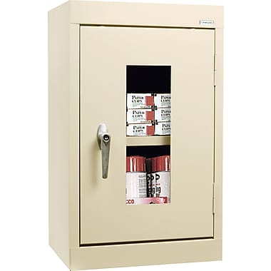 Sandusky Clear View Single Door Cabinet, Putty