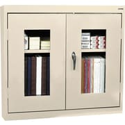 Sandusky Clear View Double Door Cabinet, Putty