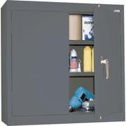 Sandusky Solid Double Door Cabinet, Charcoal