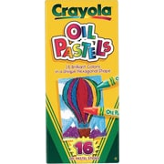 Crayola® 524616 Oil Pastel, Assorted, 16/Pack
