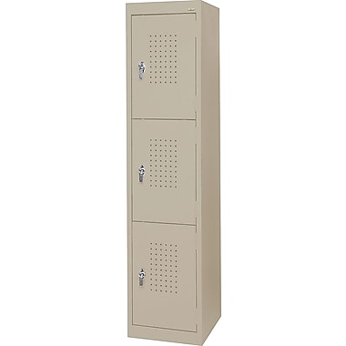 Sandusky Triple Tier Storage Locker, Dove Gray