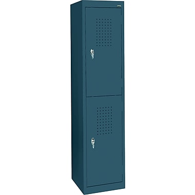 Sandusky Double Tier Storage Locker, Charcoal