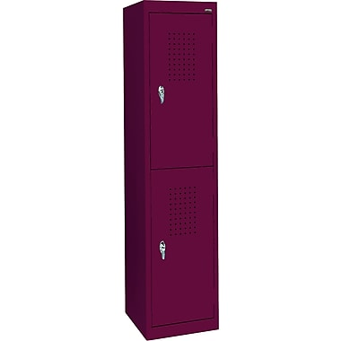 Sandusky Double Tier Storage Locker, Burgundy