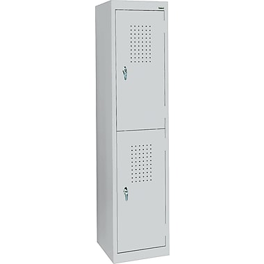 Sandusky Double Tier Storage Locker, Dove Gray