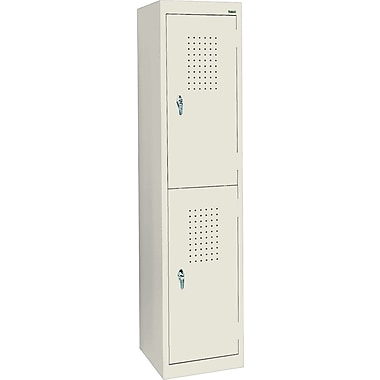 Sandusky Double Tier Storage Locker, Putty