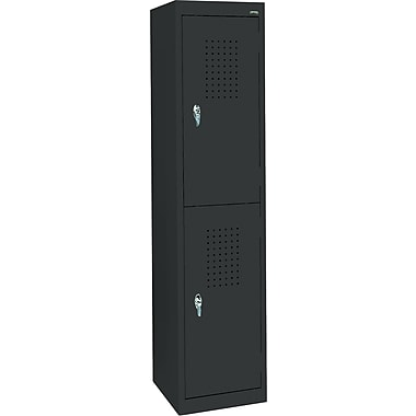 Sandusky Double Tier Storage Locker, Black