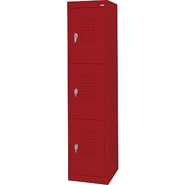 Sandusky Triple Tier Storage Locker, Red