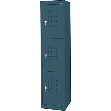 Sandusky Triple Tier Storage Locker, Charcoal