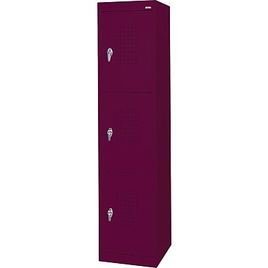 Sandusky Triple Tier Storage Locker, Burgundy
