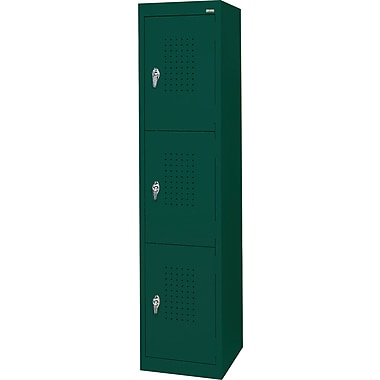 Sandusky Triple Tier Storage Locker, Forest Green