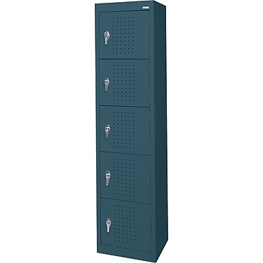 Sandusky Five Tier Storage Locker, Charcoal