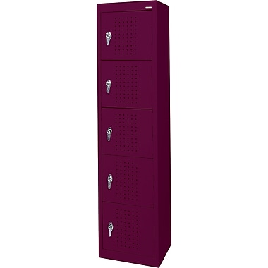 Sandusky Five Tier Storage Locker, Burgundy