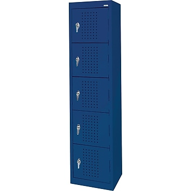Sandusky Five Tier Storage Locker, Blue