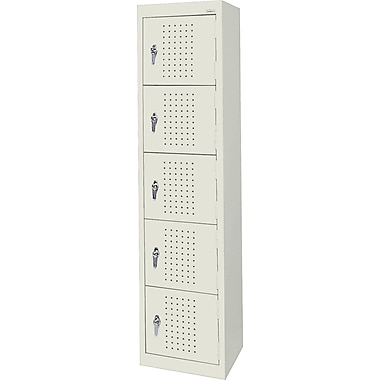 Sandusky Five Tier Storage Locker, Putty